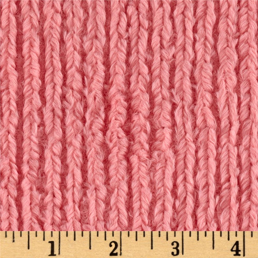 Shannon Minky Chenille Soft Cuddle Coral
