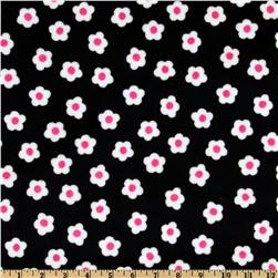 Minky Moo Moo Blossom Cuddle Flower Field Black