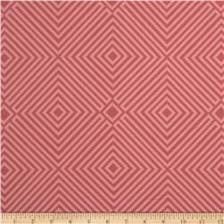 Geometric Diamonds Tonal Pink