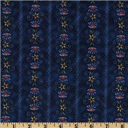Three Cheers Embroidery Stripe Navy