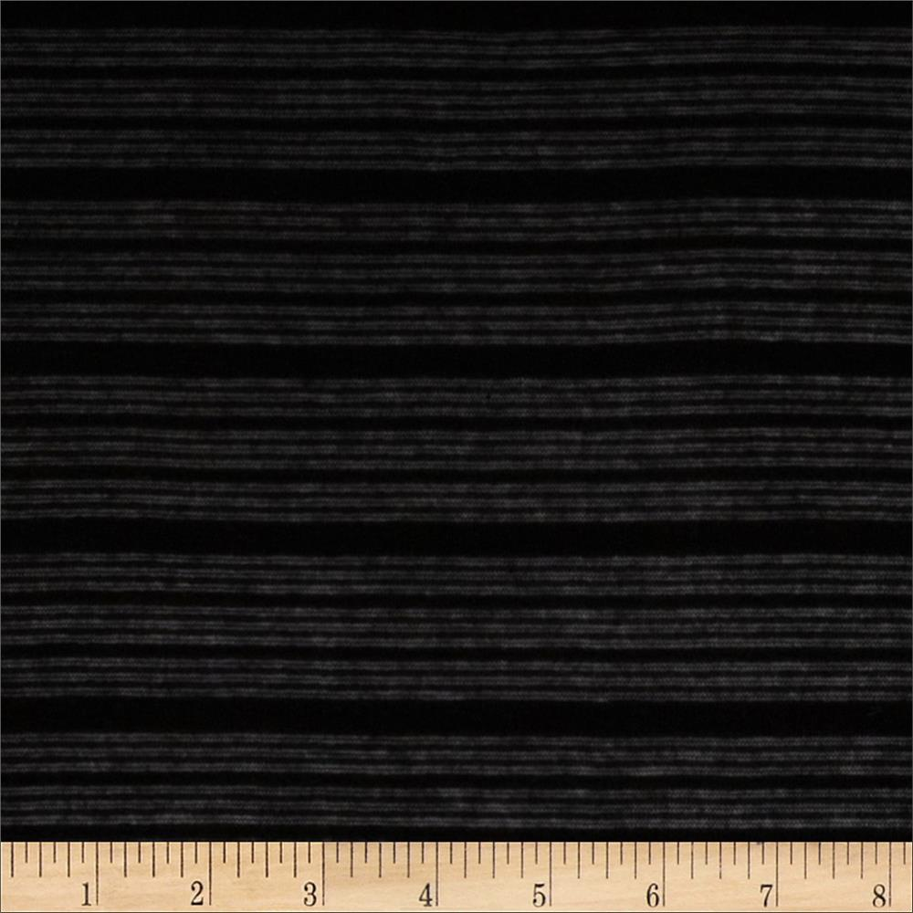 Novelty Sheer Hatchi Knit Tonal Stripes Black