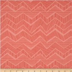 Timeless Treasures Owl Be Seeing You Chevron Pink