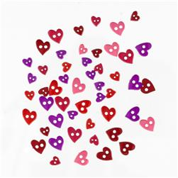 Favorite Findings Sew-on Buttons Mini Hearts Colorful