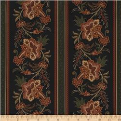 Moda Pheasant Hill Pheasant Row Stripe Black