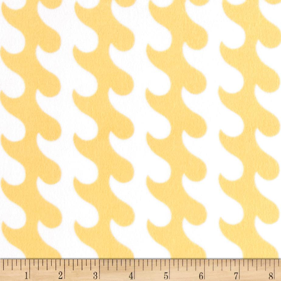 Riley Blake Fly Aweigh Flannel Waves Yellow