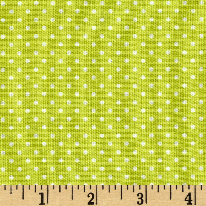 Flo's Garden Pin Dot Citron Fabric