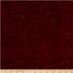 Flannel Scroll Red