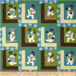 Sweetie Pie Snowmen Log Cabins Multi