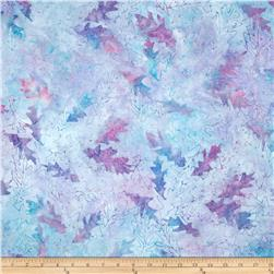 Batavian Batiks Forest Leaves Light Blue/Lavender
