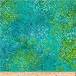 "Timeless Treasures Tonga Batik 108"" Wide Fossil Leaf Aqua"