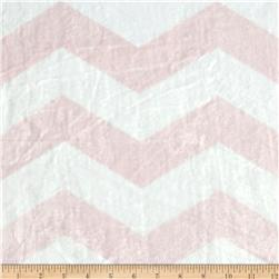 Minky Chevron Light Pink/White Fabric