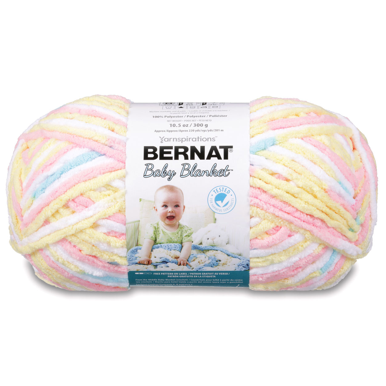 Bernat Baby Blanket Big Ball Yarn (04133) Little Royales - Discount ...