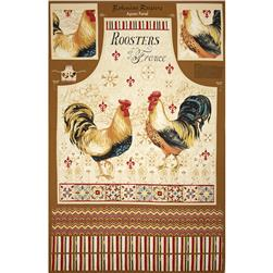Bohemian Roosters Apron Panel Multi