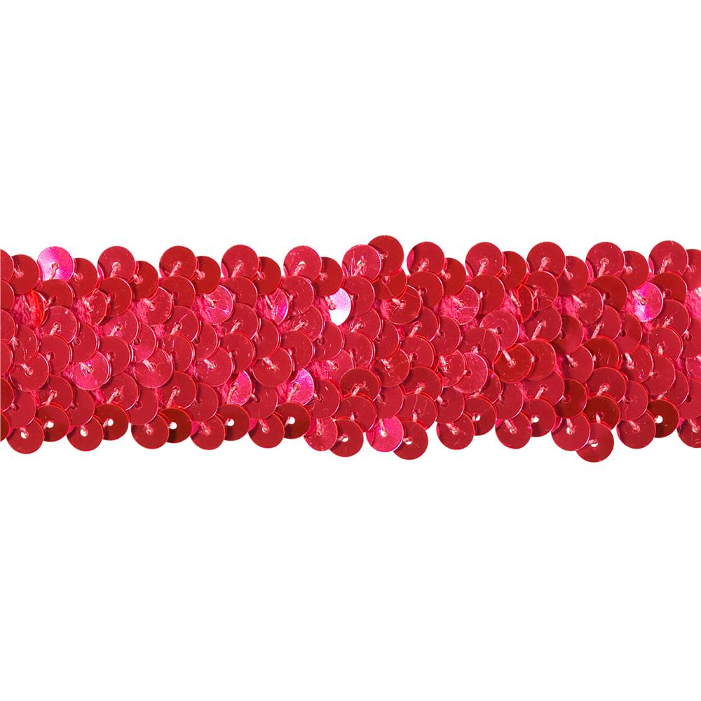 Team Spirit 1.25'' #66 Sequin Trim Cerise Flo