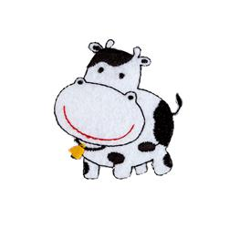 Cow Applique White