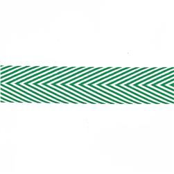 May Arts 3/4'' Chevron Twill Ribbon Spool Green