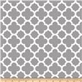Riley Blake Medium Quatrefoil Grey