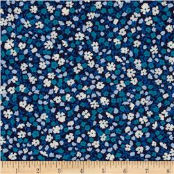 Kaufman London Calling Lawn Tiny Flower Indigo