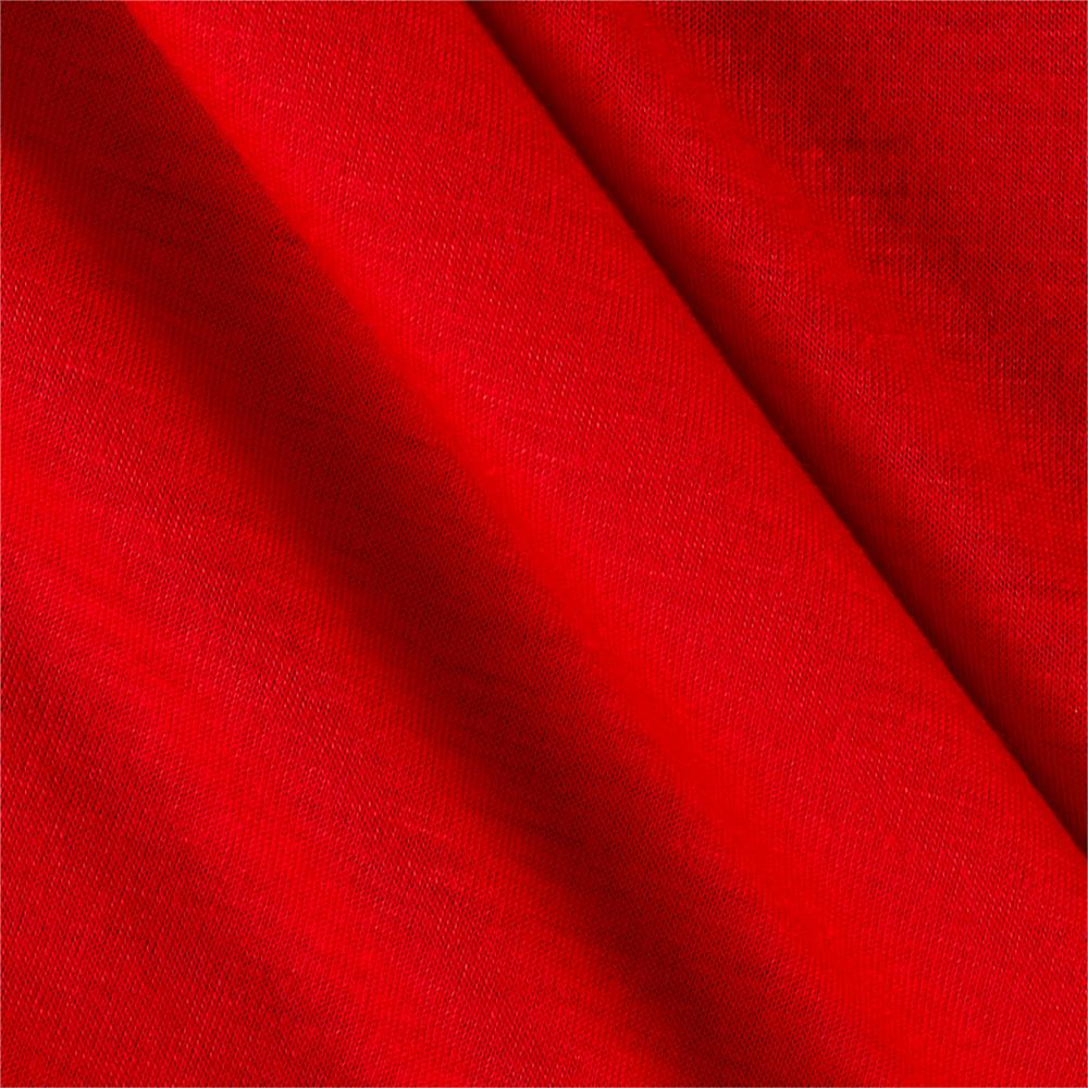 Poly Rayon Spandex Jersey Knit Solid Red