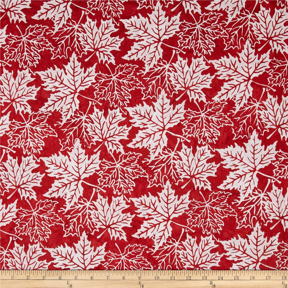 Bali Batiks Maple Leaves Peppermint