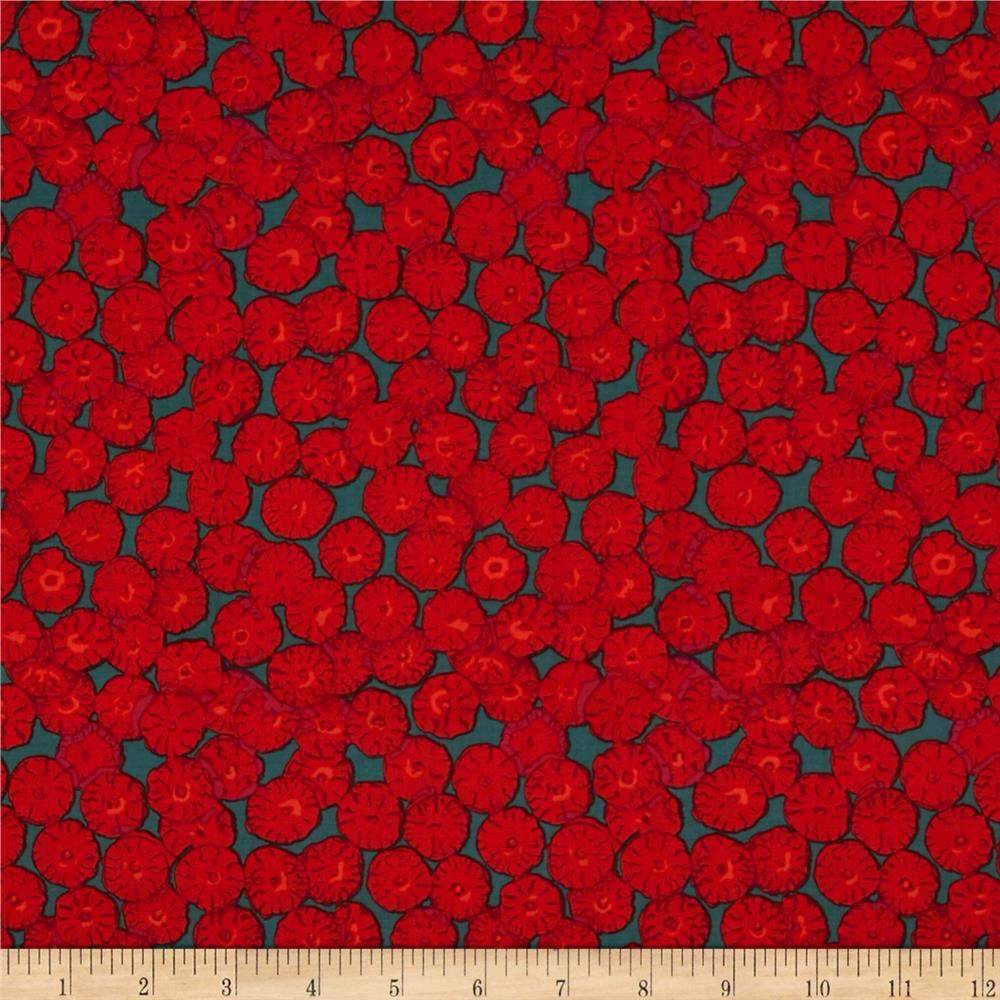 Kaffe Fassett Collective Sand Dollars Red