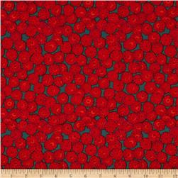 Kaffe Fassett Collective Sand Dollars Red Fabric