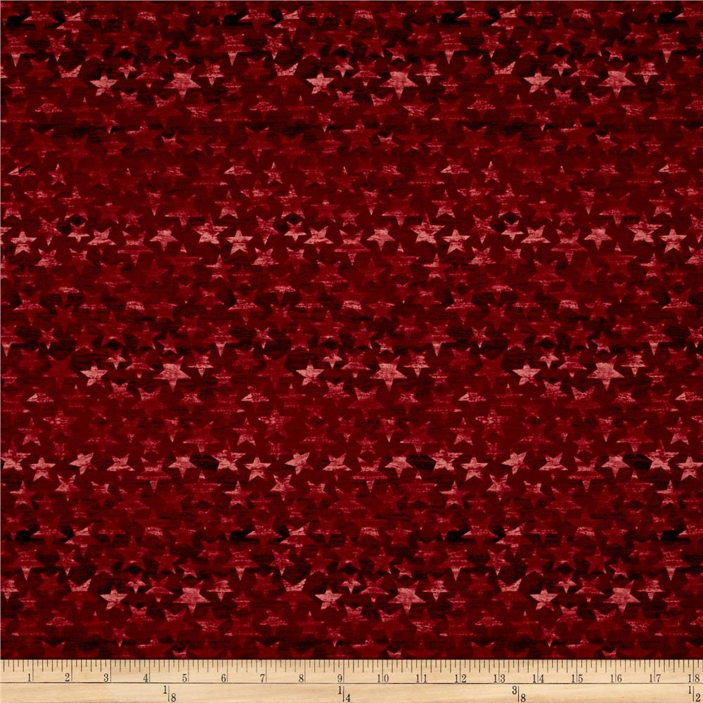 American Homecoming Tonal Stars Barn Red