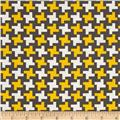 Farm To Fork Houndstooth Yellow