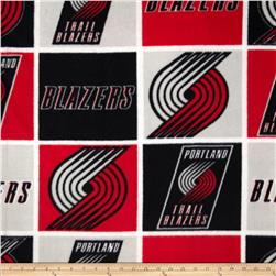 NBA Fleece Portland Trail Blazers Block Red
