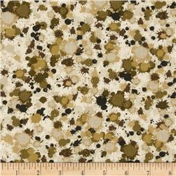 Extreme Sports Dirt Splats Neutral Fabric