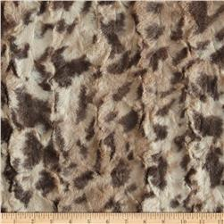 Minky King Cheetah Brown/Beige