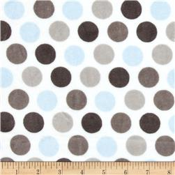 Shannon Minky Cuddle Classic Mod Dot Baby Blue