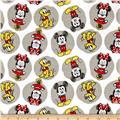 Disney Flannel Mickey Minnie Pluto White