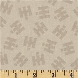 Remember When IH Logo Cream Fabric