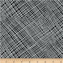 Moda Thicket Crosshatch Black/White