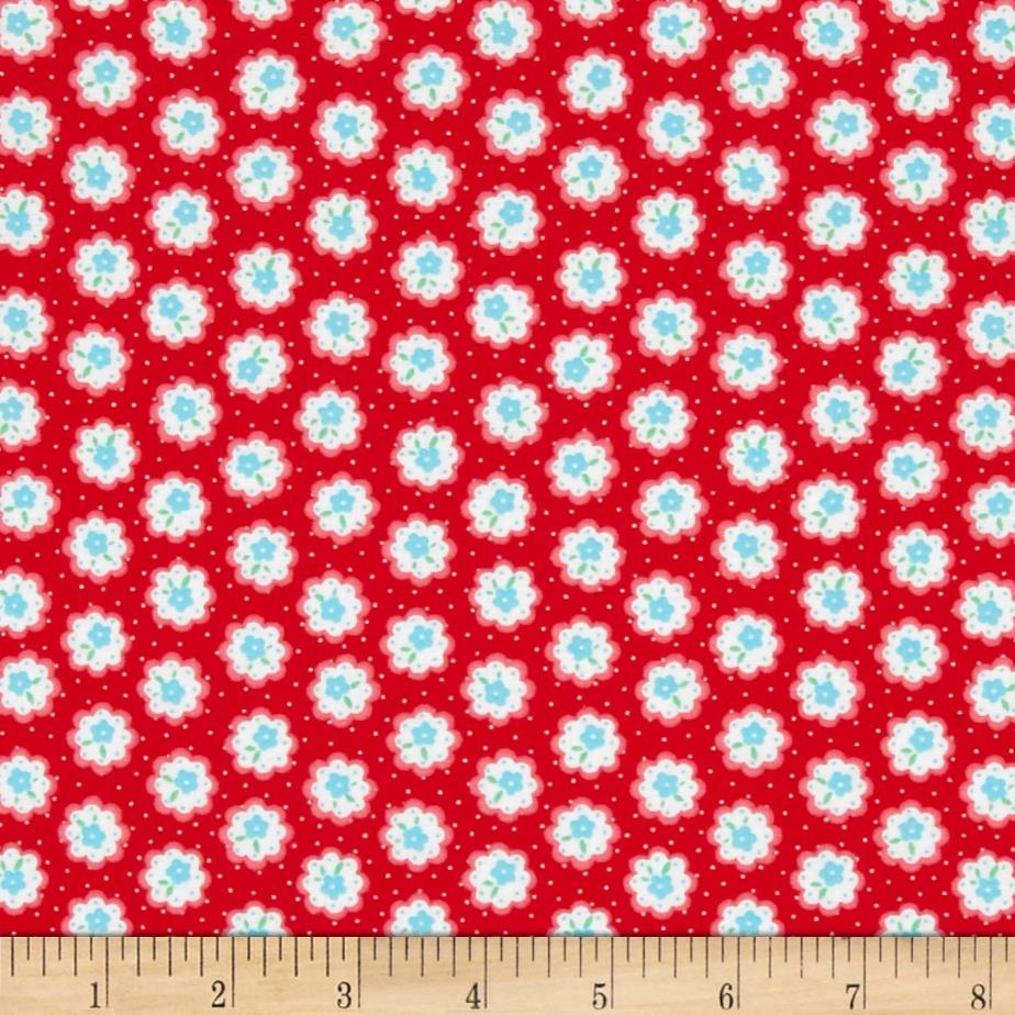 Lecien Flower Sugar Mini Medallions Red