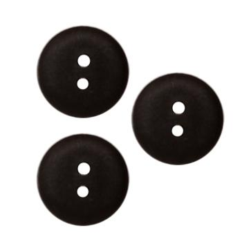 Fashion Button 3/4'' Peoria Black