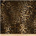 Stretch Tissue Hatchi Knit Cheetah Brown/Black