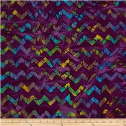 Indian Batiks Chevron Purple