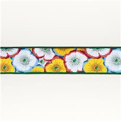 "1 1/2""Philip Jacobs Picotee Poppy on Green"