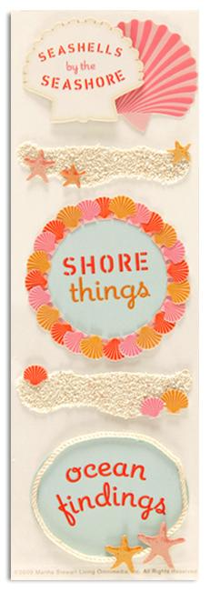 Martha Stewart Crafts Stickers Shell Framed Phrases