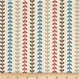 Provence & Beyond Stripe Leaves Cream