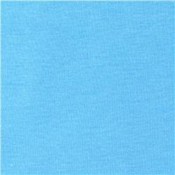 Basic Cotton Baby Rib Knit Solid Powder Blue
