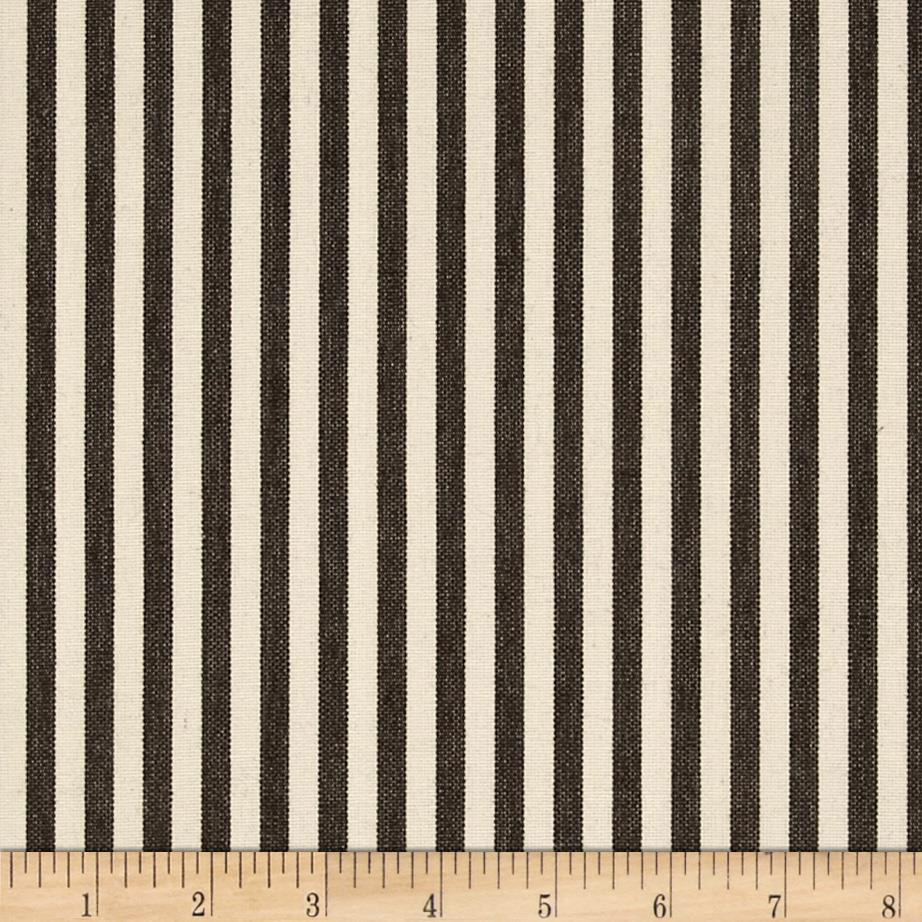 Benartex Home Patra Stripe Espresso/Off White