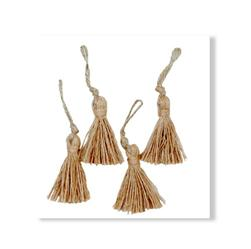 Rope Fiber Mini Tassel Natural