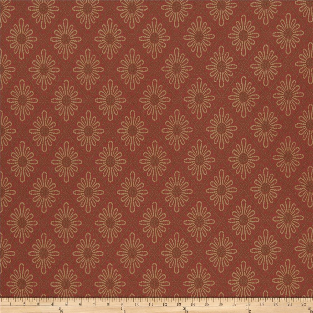 French General Paquerette Jacquard Rural Red