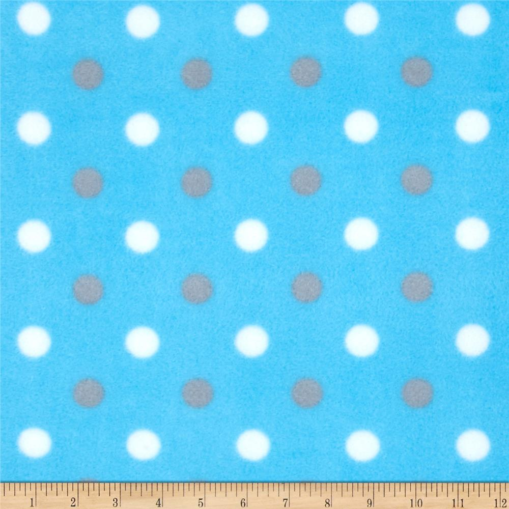 Simply Fleece Simply Dot Blue/Gray