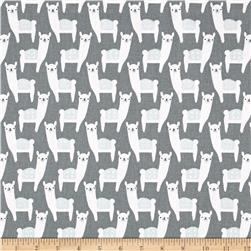 Premier Prints Alpaca Farm Sundown Grey