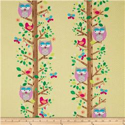 Michael Miller Happy Tones Owlery Canary Fabric
