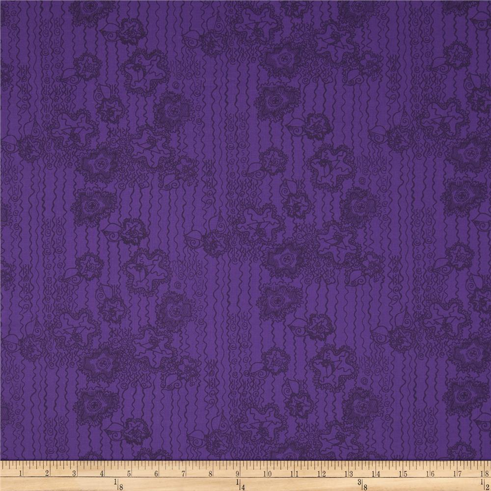 Lace Mountain Button Floral Midnight